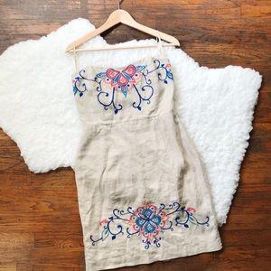 Banana Republic size 6 embroidered ivory dress